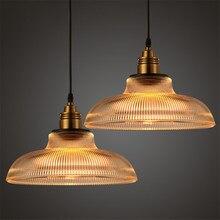 Amerikanischen Edison Glas Anhänger Lichter Loft Retro streifen Anhänger Lampe für bar Restaurant zimmer Hanglamp suspension leuchte