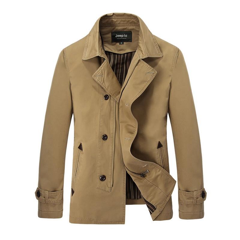 New Jacket Men Fashion Design Veste Homme Formal Spring Winter Suit Coat Solid Cotton Khaki Brand Clothing M-3XL Men Jacket