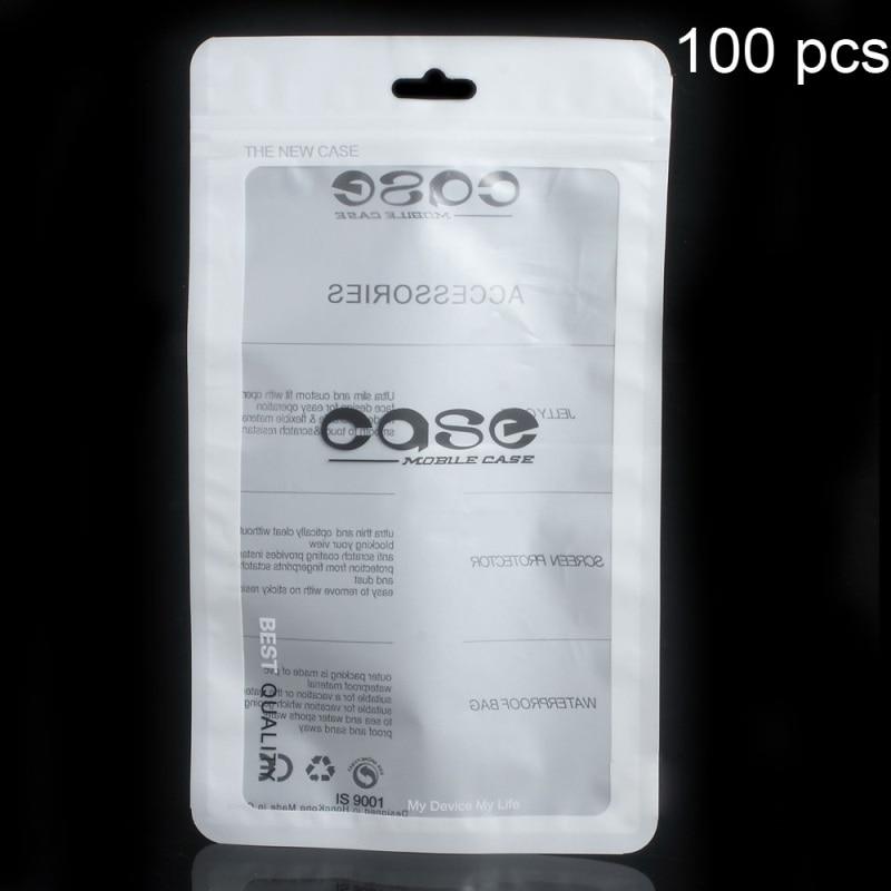 imágenes para 100 unids/lote ziplock paquete bolsa bolsa para iphone 6 s plus/cajas del teléfono huawei p9, tamaño: 19.3x12.5 cm