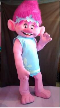 Талисман костюм тролли парад талисманов качество клоуны дни рождения Тролль для Хэллоуина Костюмы