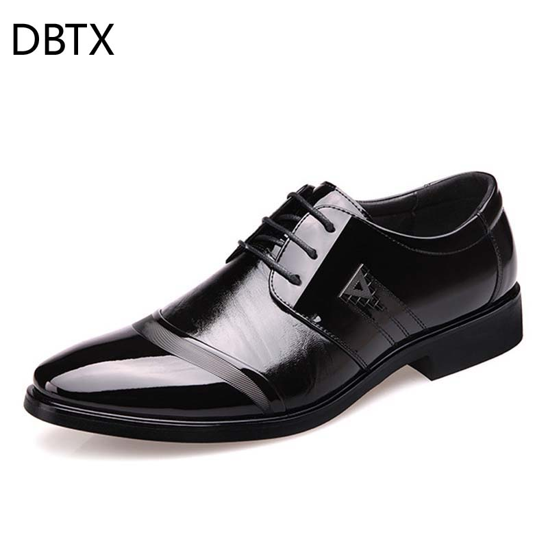 Men's Dress Shoe Oxford Business Formal Shoes Man Wedding Leather Office Simple Style Quality Men Shoes Lace-up Size 38-47 329