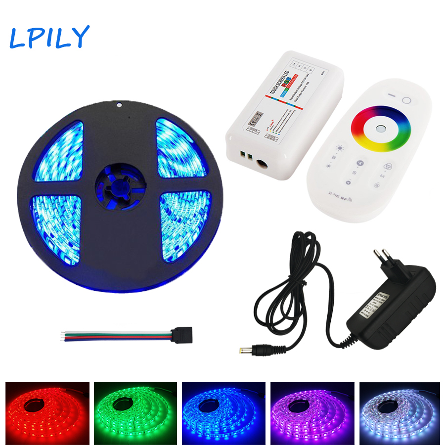 5M 10M 15M 20M Led Strip Light 5050 60leds/m Led Ribbon Rgb Non Waterproof Diode Tape Decoration DC 12 V Flexible Strip Light 15m 5050 rgb led strip light non waterproof led light 15m flexible rgb diode led tape set remote control power adapter