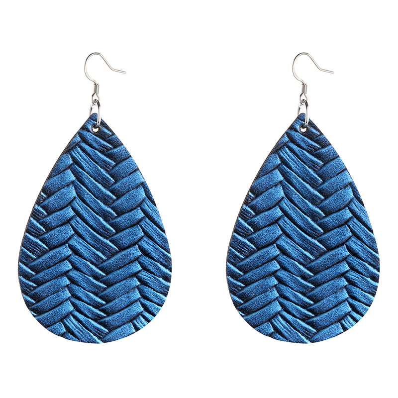 New Teardrop Leather Earrings Petal Drop Earrings Antique Lightweight S925 Carved Stainless Steel Earrings For Women Gifts 6
