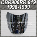 Motorcycle Accessories Windshield/Windscreen - Silver For Honda CBR900RR 919 1998-1999 98 99