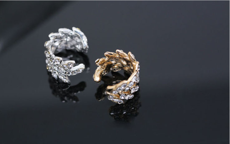 Korea lovely rhinestones earrings punk U-shaped ear clip without pierced ears clip jewelry LM-C150