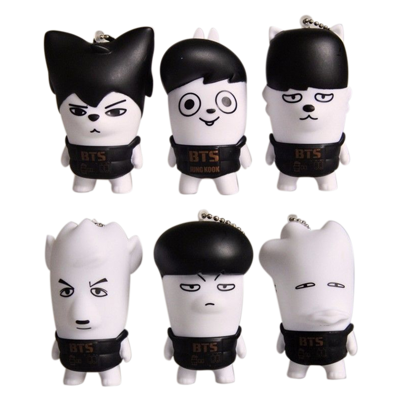 KPOP BTS Bangtan Boys Cellphone Pendants Suga V Jimin Jin Cartoon Character Model For ARMY Gift Collection