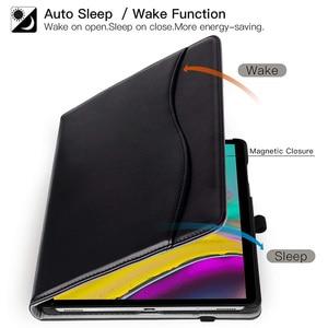 "Image 4 - AROITA מקרה עבור Samsung Galaxy Tab S5E 10.5 ""Tablet 2019, דגם SM T720/SM T725 פרימיום עור מפוצל Stand כיסוי עם רצועת יד"