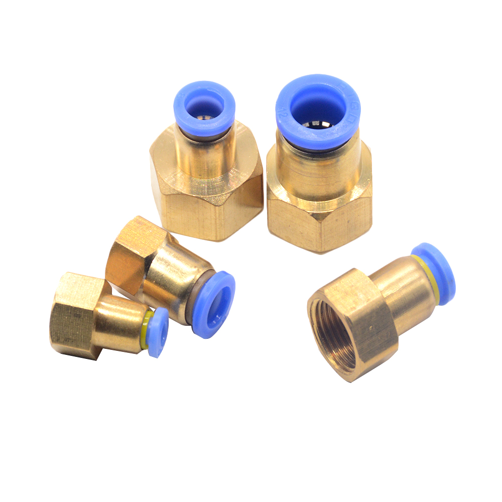 Pneumatic Component P Quick-connect Connector PCF Internal Thread Straight Through PCF4-M5/6-01/8-02/10-03/12-04 Pipe Fitting