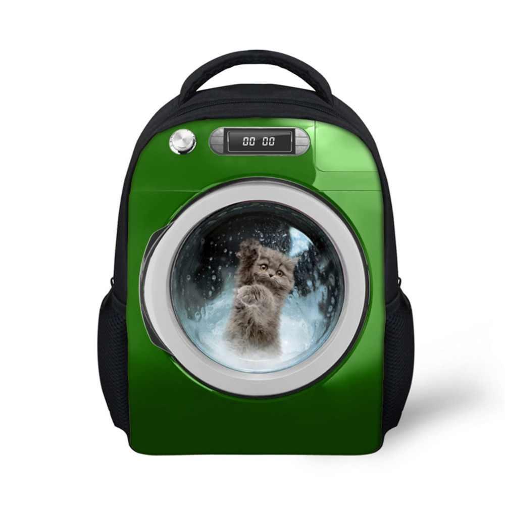 Noisydesigns Keren 12 Inch Pria Ransel Animal Anjing Di Mobil Cetak College Laki-laki Tas Sekolah Laptop Perjalanan Bagpack Mochila Ransel