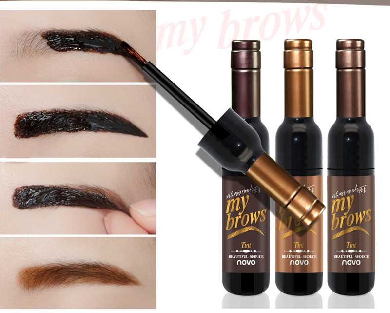 NOVO Eye Makeup Red Wine Peel Off Eye Brow Tattoo Tint Waterproof Long-lasting Dye Eyebrow Gel Cream Mascara Make Up Cosmetics 2