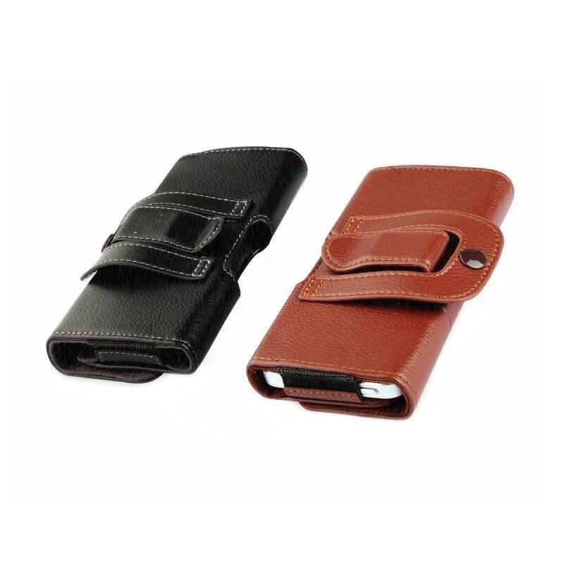 Belt Clip Holster Kulit Kasus Ponsel Kantung Untuk iPhone 7 6 6 S - Aksesori dan suku cadang ponsel - Foto 2