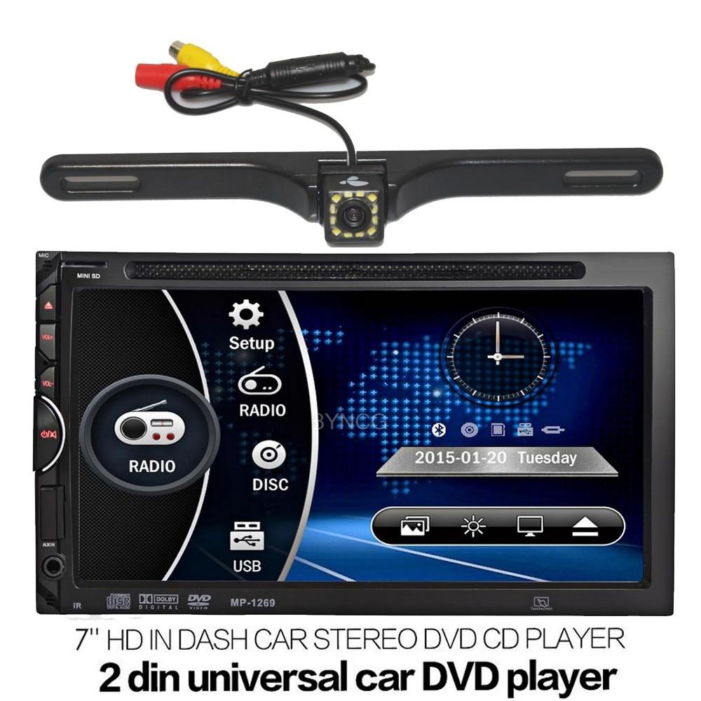 2 Din Car Dvd Player Bluetooth Fm Radio Universal For 2din