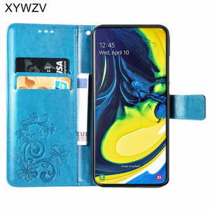 Image 2 - For Samsung Galaxy A80 A90 Case Soft Silicone Filp Wallet Shockproof Phone Bag Case Card Holder Fundas For Samsung A80 A90 Cover