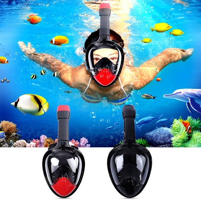 52722fac5 Underwater Diving Mask Snorkel Set Swimming Training Scuba mergulho full  face snorkeling mask Anti Fog Gopro Camera Dropshipping