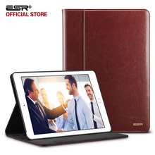 Case for iPad Pro 10.5, ESR Premium PU Leather Business Folio Stand Pocket Auto Wake Smart Cover case for iPad Pro 10.5 inches