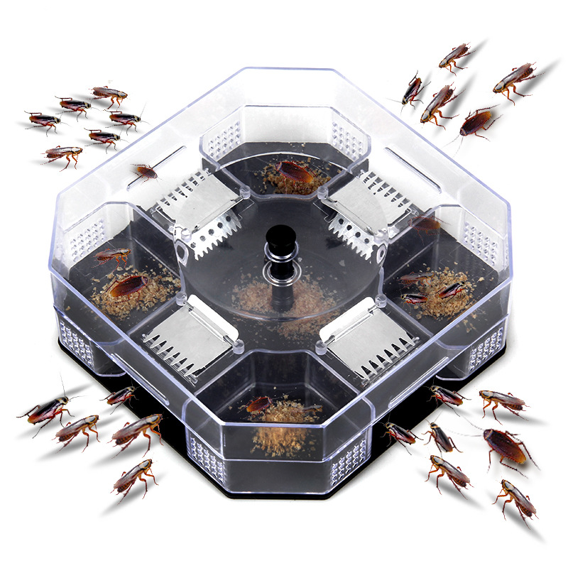 High Quality Household Effective Cockroach Traps Box Reusable Cockroach Bug Roach Catcher Cockroach Killer Bait Traps(China)