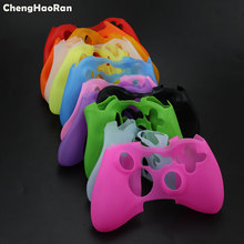 ChengHaoRan 10 pcs צבעוני סיליקון כיסוי מקרה מגן שרוול עבור Xbox 360 Xbox360 משחק בקר סיליקון אור עמיד