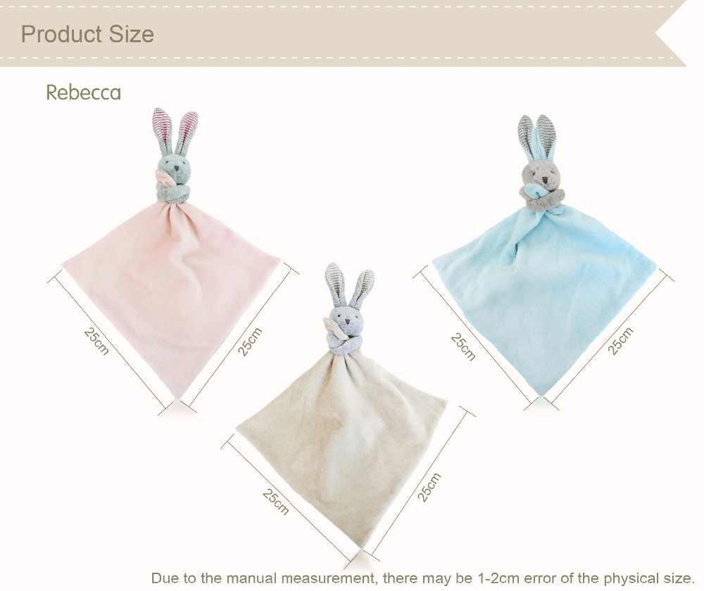 Luksusowe noworodka Bunny miękkie zabawki dziecko pocieszyciel CE zgodność Baby Appease ręcznik Ecofriendly bawełna wielofunkcyjna ślina dla dziecka