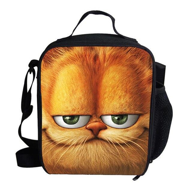 d0f572dc60a2b Çocuk erkek kız için Popuar sevimli öğle yemeği çantası piknik Garfield  baskı için yalıtımlı öğle yemeği