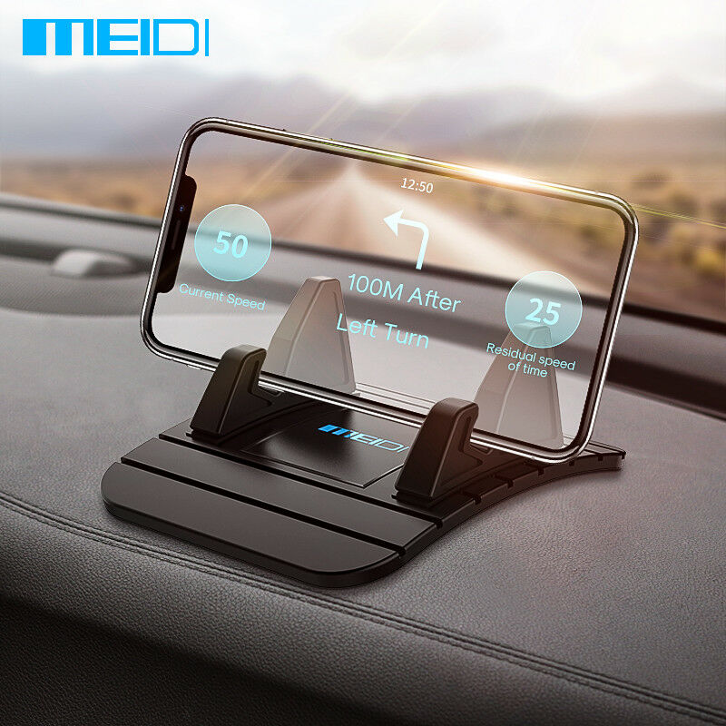 MEIDI Car Dashboard Non-slip Mat Rubber Mount Phone Holder Pad Mobile Phone Stand Bracket For Samsung  Xiaomi Mobile Holder packaging and labeling