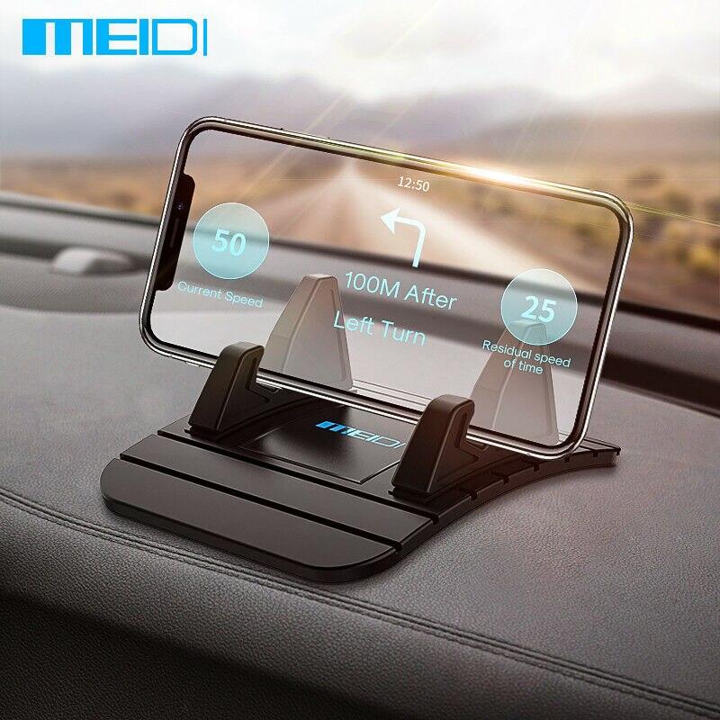 MEIDI voiture tableau de bord tapis antidérapant en caoutchouc support pour téléphone Pad support de téléphone Mobile support pour Samsung Xiaomi support de téléphone portable