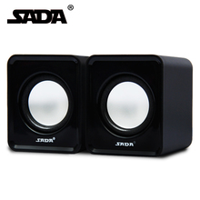 SADA 2.0 Wired Mini Portable USB Powered 3.5mm Audio Stereo Computer Speakers For Laptop Desktop PC Home Office