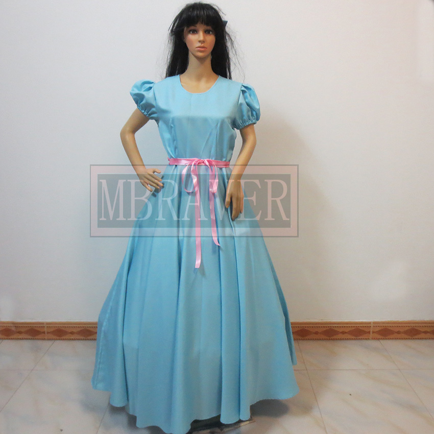 Custom Made Wendy Darling Peter Pan Cosplay Costume Dress Halloween Party Cospaly Costume