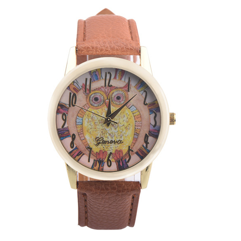 New Fashion Owl Pattern Watches Women Ladies Dress PU Leather Stylish Watch Casual Wrist Watch Quartz Watches Relogios Feminino