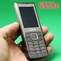 Original nokia 6500 6500c mobile teléfono 3g desbloqueado bluetooh reproductor mp3 y reformado clásico teléfono garantía de un año