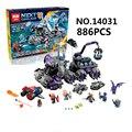 Lepin nexus knights building blocks set 14031 jestro vehículo monstruo monstruoso de ladrillos niños juguetes compatible 70352