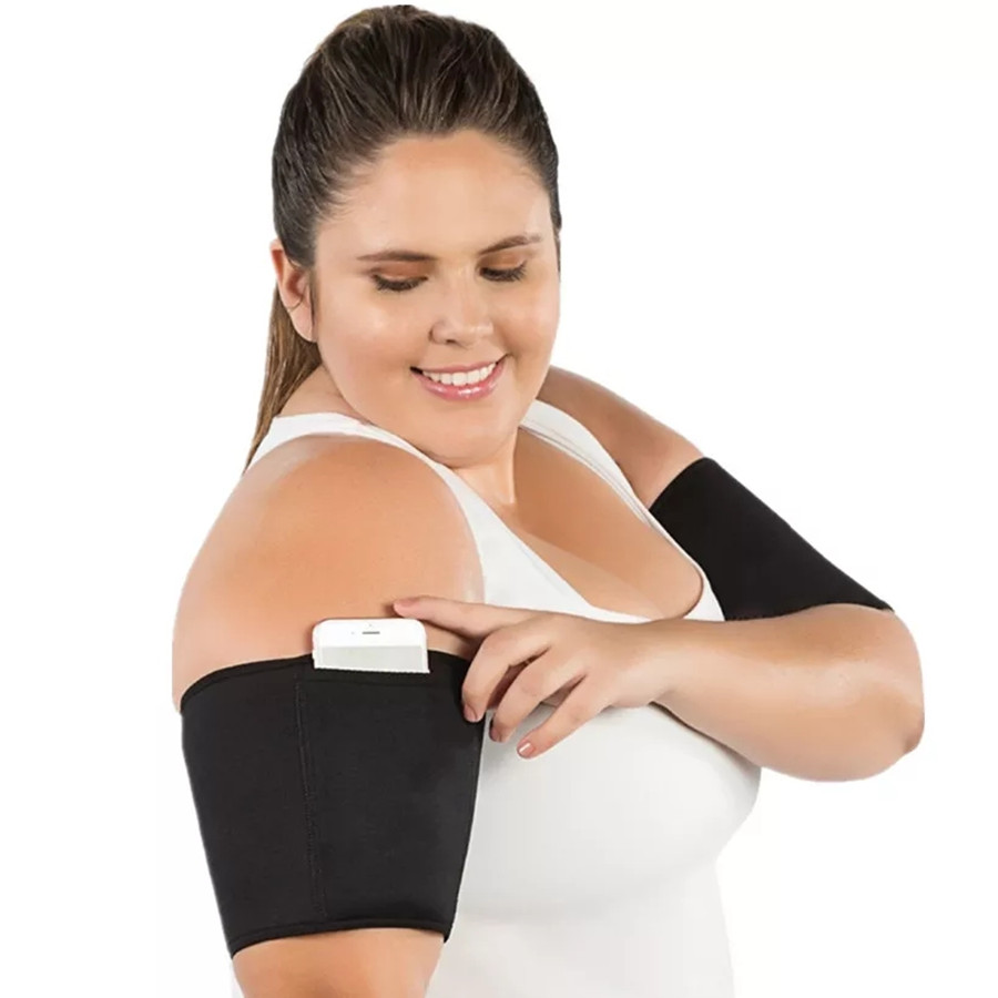 Women's Slimming Control Arm Sleeves Body Shapers Sweat Sauna Neoprene Running Fitness Armguards Sports Arm Warmers Sweat Sauna