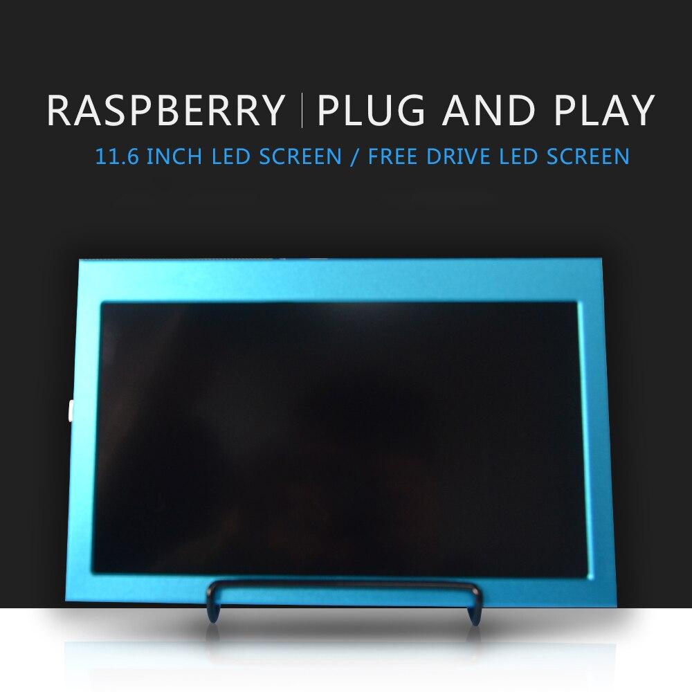 Raspberry pi 4b 11.6 Cal 1920x1080 HDMI ekran LCD wyświetlacz kompatybilny Jetson nano /Raspberry Pi 4B/3B/3B + Windows 7/8/10