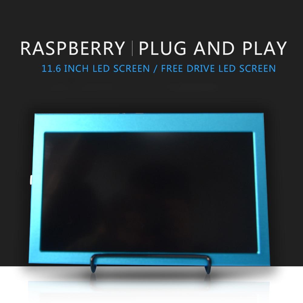 Raspberry pi 4b 11,6 дюймов 1920x1080 HDMI ЖК-дисплей совместимый Jetson nano /Raspberry Pi 4B/3B/3B + Windows 7/8/10