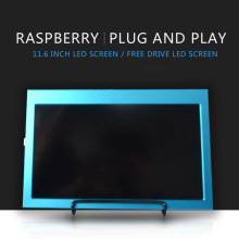 Raspberry pi 4b 11.6 Polegada 1920x1080 hdmi display lcd compatível jetson nano/raspberry pi 4b/3b/3b + windows 7/8/10