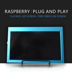 Raspberry pi 4b 11.6 Polegada 1920x1080 hdmi display lcd compatível jetson nano/raspberry pi 4b/3b/3b + windows 7/8/10