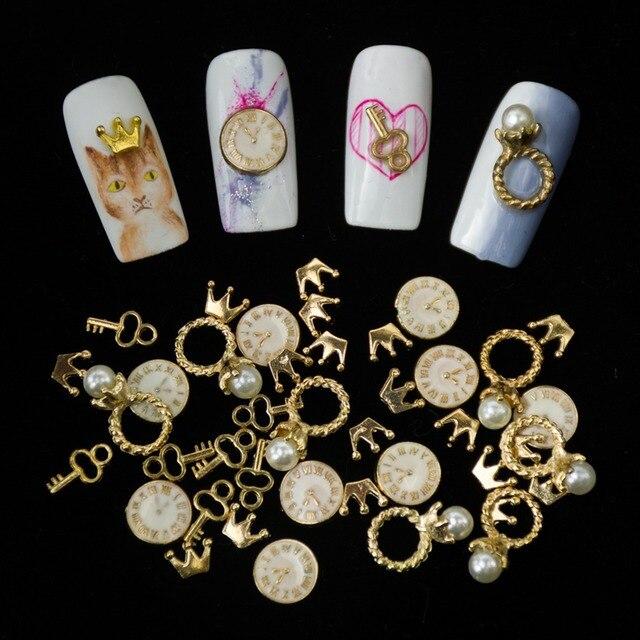 10pcs/lot Alloy Nail Revits Accessory Japanese Metal Nail Supplies ...