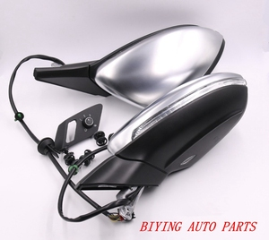 Image 2 - For VW Golf 7 MK7 VII AUTO folding electric folding mirror GLASSES with Chrome aluminum Satin finish Silver Cover