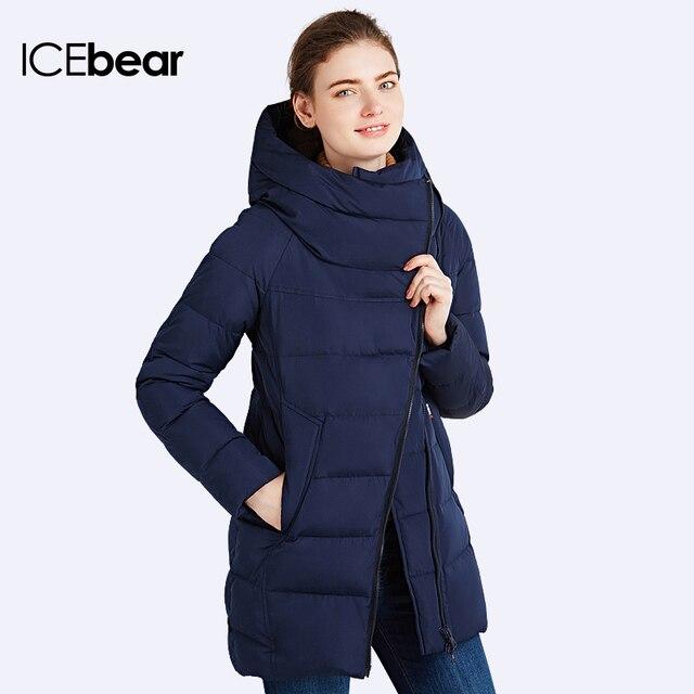 ICEbear 2016 Много Цветов Зимняя Куртка Женщин Новый Модный Бренд Теплый Толстый Широкий талией Верхняя Одежда Капюшоном Свободные Пальто 16G607