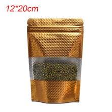 купить Free Fast Shipping 1000pcs Stand Up Food Storage Zip Lock Mylar Pouch Heat Seal Doypack Aluminum Foil Packing Bags 12x20cm онлайн