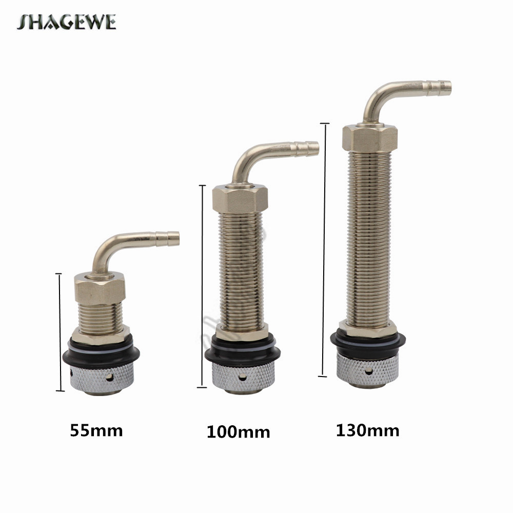 Adjustable Beer Tap Faucet G5/8 Long Shank With 8mm Barb Elbow Draft Beer Dispenser Home brewing Nipple Shank Assembly