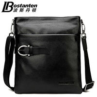 2015 New BOSTANTEN 100 GENUINE LEATHER Cowhide Shoulder Leisure Men S Bag Business Messenger Briefcase Laptop