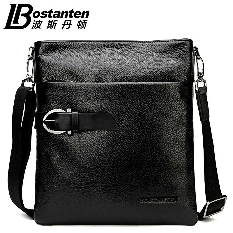2018 New BOSTANTEN 100% GENUINE LEATHER cowhide Shoulder - ჩანთები - ფოტო 1