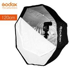 Godox استوديو الصور 120 سنتيمتر 47in المحمولة المثمن فلاش Speedlight Speedlite مظلة الفوتوغرافي Softbox لينة مربع برولي العاكس