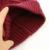 2016 Invierno 100% Lana Gorros Sombrero de Color Sólido de Las Mujeres Con Grandes Pompones de Piel Real Negro Bobble Hat Para la Mujer Girls Skullies Cap