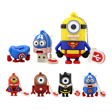 Pen drive Cartoon Super Heros Minions USB 2.0 Flash Memory Stick Pendrive 4GB 8GB 16GB 32GB 64GB Usb Creativo Flash Drive U Disk