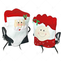 ZLJQ Model Mr Mrs Santa Claus Cute Chair Back Seat Covers Dinner Decor Christmas Room Decoration