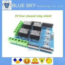 5pcs/lot 4 channel 5v relay shield module, Four channel relay control board relay expansion board for arduino UNO R3 mega 2560