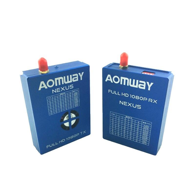 Aomway NEXUS V1 FULL HD 1080P 10CH AV FPV Digital Transmtiter Receiver TX RX Combo for RC Quadcopter aomway 1200tvl 960p ccd hd mini camera 2 8mm lens for fpv