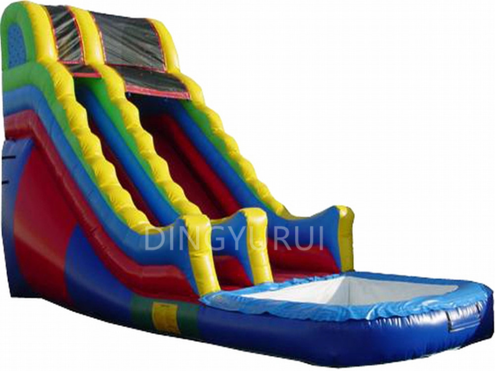 China factory sales PVC inflatable water slide jumping bounce for pool combo with blower