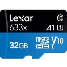 100% Original, lexar GB 32 16GB Micro SD Cartão de Memória SDHC de alta velocidade 64GB 128GB Cartão Micro SDXC TF cartão Class10 633X95 M/s
